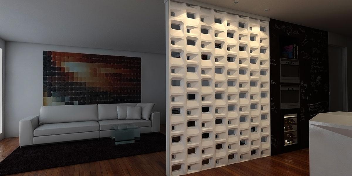 3D блоки для межкомнатных перегородок