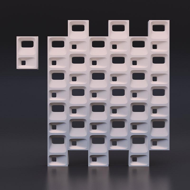 3D Блок для перегородок, стеновые блоки, блоки для стен,