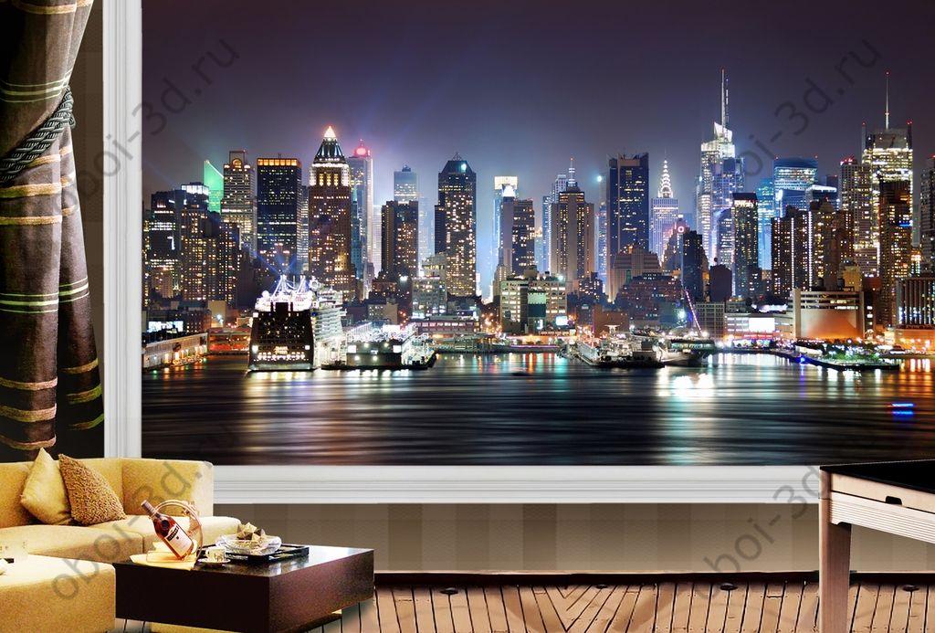 Фотообои ночного города в интерьере фото - портал фото.