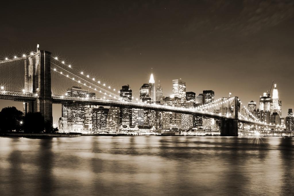 черно белые фотообои города фото