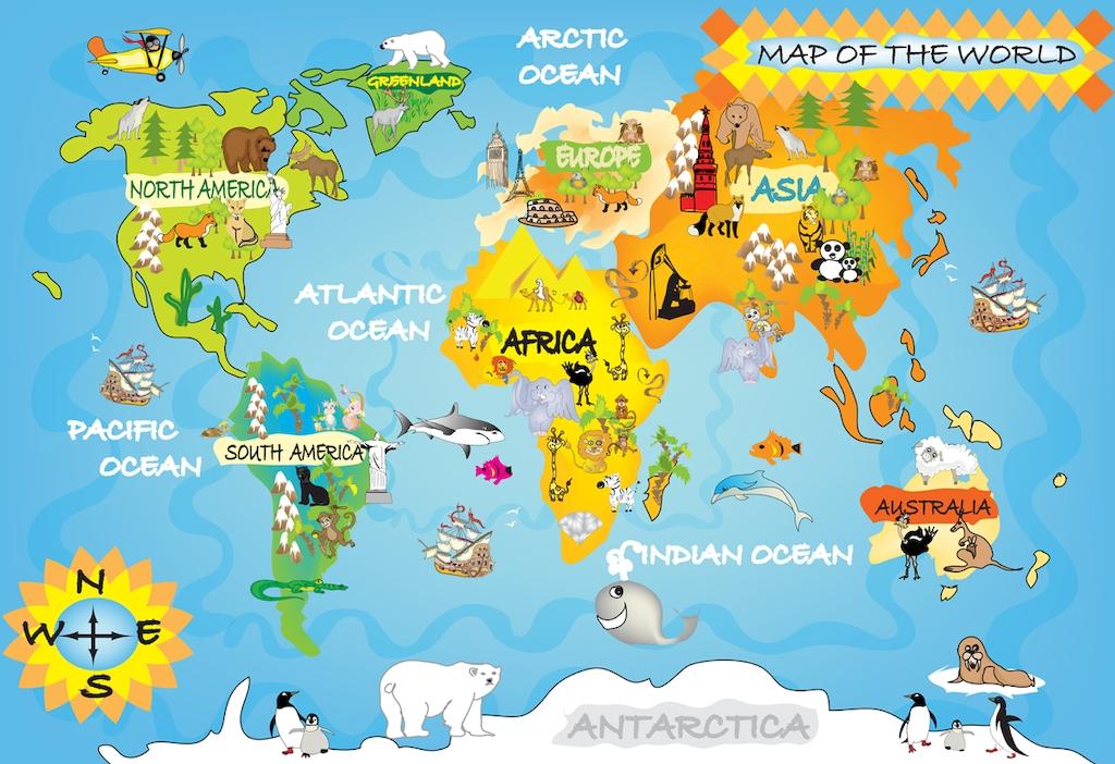 картинки карта для детей