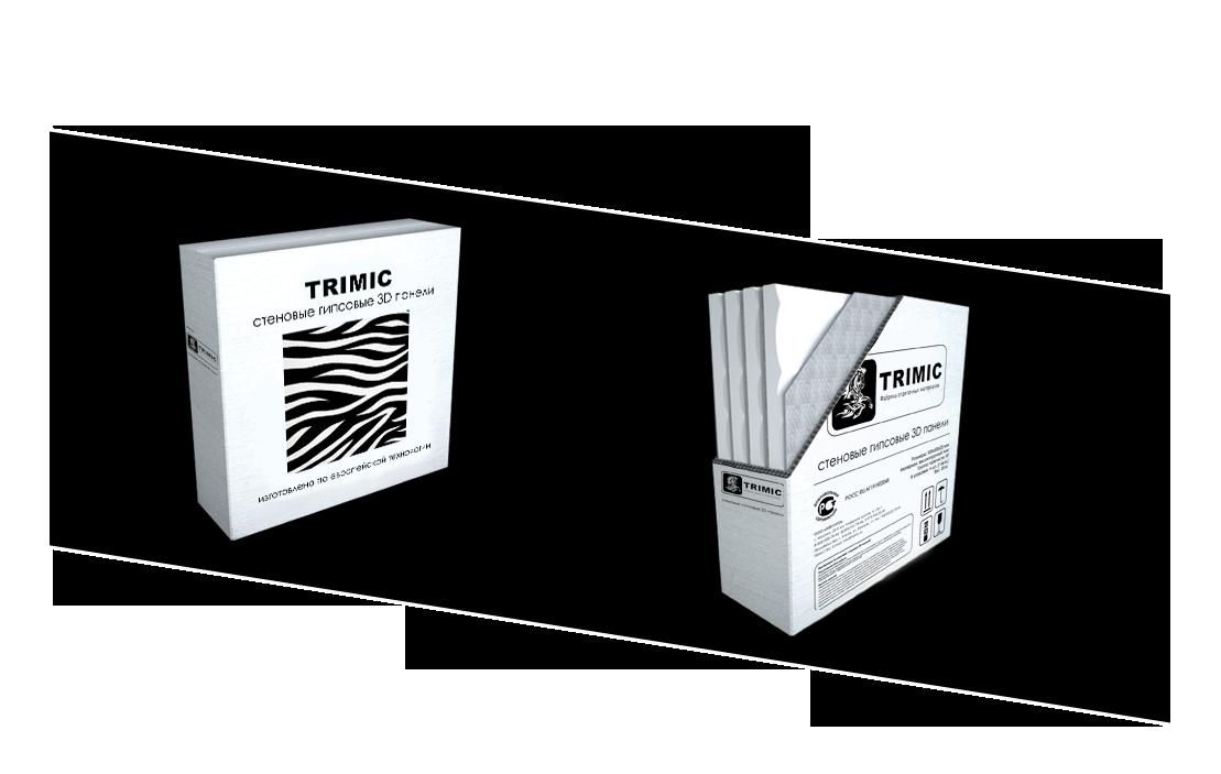 Заводская упаковка гипсовых 3D панелей от производителя. Картонные короба для упаковки 3D панелей от фабрики TRIMIC