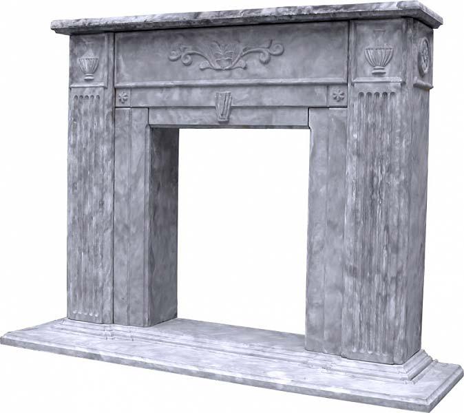 """Камин """"Античный"""" из гипса с элементами античных росписей"""