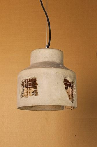 """Светильник из бетона """"Loft house №1"""""""