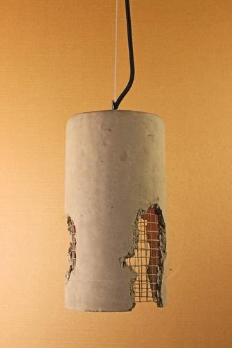 """Светильник из бетона """"Loft house №2"""""""