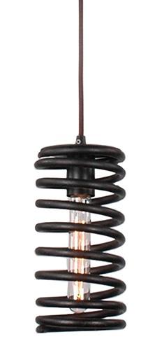 """Подвесной светильник """"Пружина"""" - авторское мелкосерийное изделие, предназначенное для истинных ценителей оригинальности и неповторимости.  Изготовлен данный светильник из экологически чистых и безопасных материалов, оладающих повышенной прочностью. Такой светильник прослужит долго (очень долго) и будет оригинальным украшением помещения любого типа и интерьера."""
