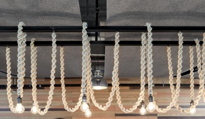 """Оригинальный дизайнерский светильник """"Канаты"""" украсит Ваше помещение и придаст ему необычность и неповторимость.  На заказ производим светильники с разной длиной каната и разными """"ретро"""" лампочками."""