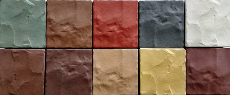 Окрашенные стеновые панели из гипса