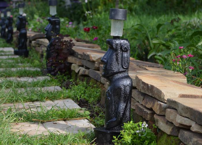 """Садовый светильник """"Идол"""" из бетона прекрасный подарок на любое торжество"""