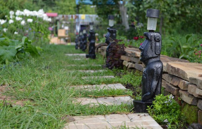 Применение садового светильника из бетона в ландшафтном дизайне - это современно, практично и не дорого.