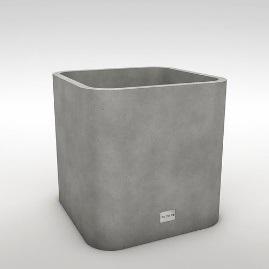 Кадка для мокрых полотенец (Кашпо из бетона)