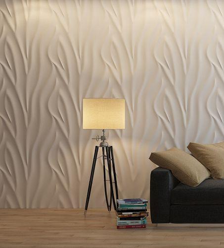 """3D панель из гипса """"Зебра"""" для интерьерного оформления стен."""