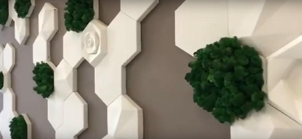 """Гипсовые 3D панелидля стен модельного ряда""""ECO""""относятся к серии""""Геометрия""""и будут прекрасным украшением для любых жилых помещений частного дома"""