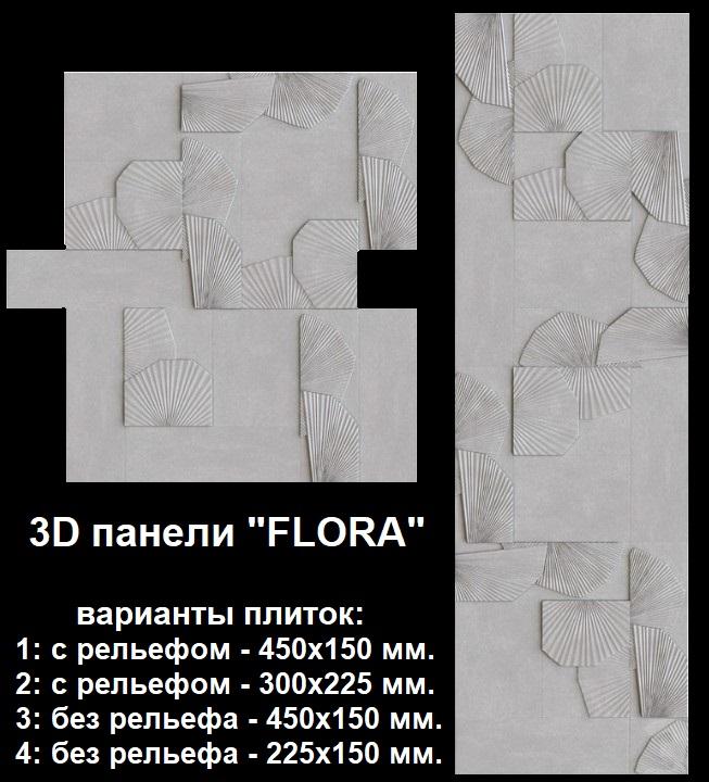 Характеристикигипсовых панелей серии «FLORA»