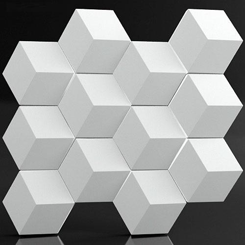 """Фотографии 3D панелей """"Грани"""" в интерьере"""