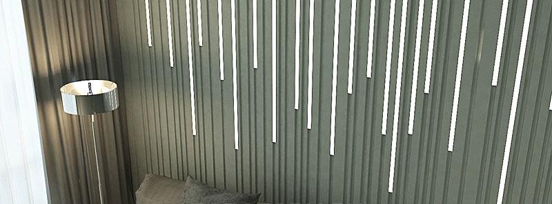 """3D панель """"Ray-LED""""– это серия стильных и эксклюзивныхрельефных панелейс лаконичным графическим орнаментом"""
