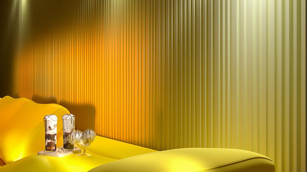 """3D панель из гипса """"Рейка-ТИКС"""" для современного интерьерного оформления стен"""