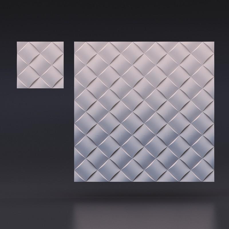 """Гипсовая 3D панель """"Ротанг"""" для стен"""