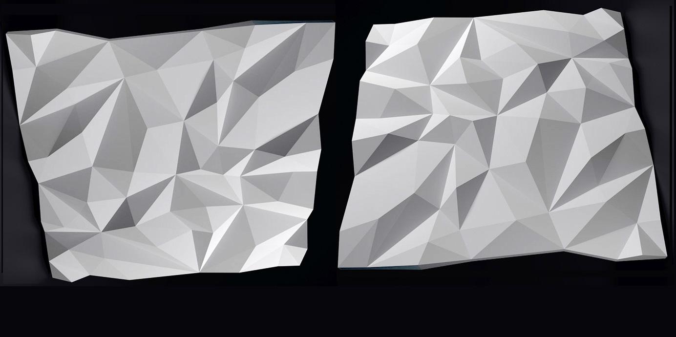 """Рисунок гипсовой 3d панели """"Скалы NEW"""""""