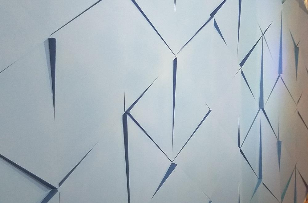 """Гипсовая 3D панель """"THREE-Big"""" в интерьере спортивной базы футбольного клуба ДИНАМО"""
