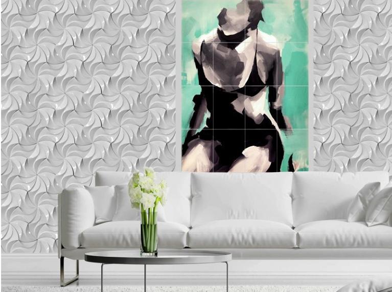 """Гипсовые 3D панелидля стен модели«TILO»относятся к сериям""""ВОЛНА""""и """"ГЕОМЕТРИЯ"""" и будут прекрасным украшением для любых жилых помещений частного дома"""