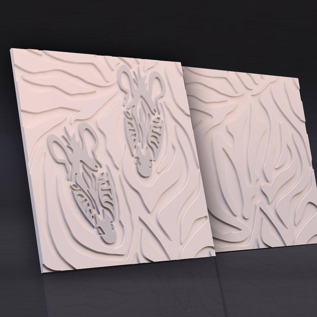 """3D панель из гипса """"Золотые джунгли"""" для интерьерного оформления стен."""