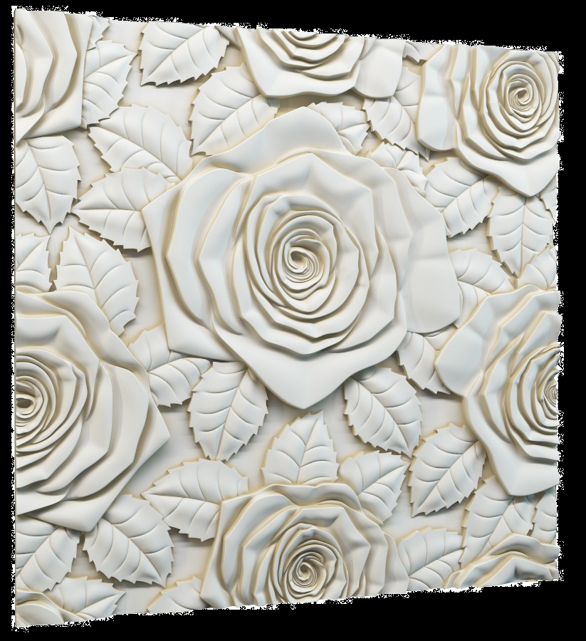 Фотографии 3D панелей Bouquet (Букет):