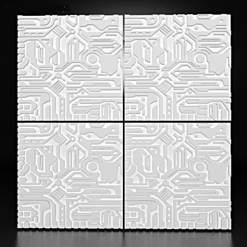 """3D панель """"Elektron"""" - современная стеновая панель из гипса в стиле high-tech*для интерьерных решений в современном стиле."""