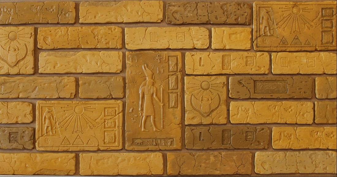 """Коллекция декоративной плитки и панно """"ГОР"""" выполнена в египетском стиле из высококачественного скульптурного гипса."""