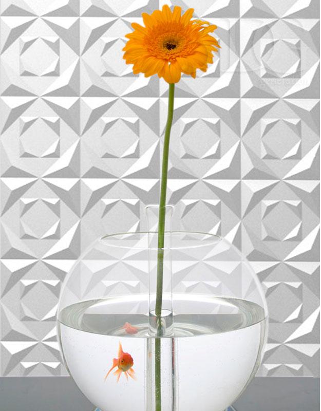 3D панель ICE из высокопрочного гипса для интерьеров помещений любого назначения. Дизайнерский рисунок. Эксклюзивное исполнение. www.avelito.ru