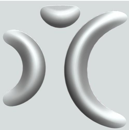 "Форма для 3D панелей ""LAVER"" 300х300 мм. из полиуретана."