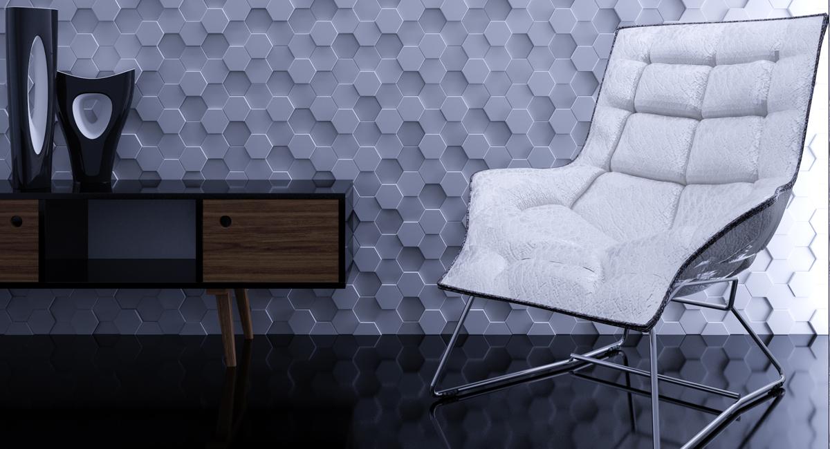"""Изображение 3D панели """"Soti"""" в интерьере"""
