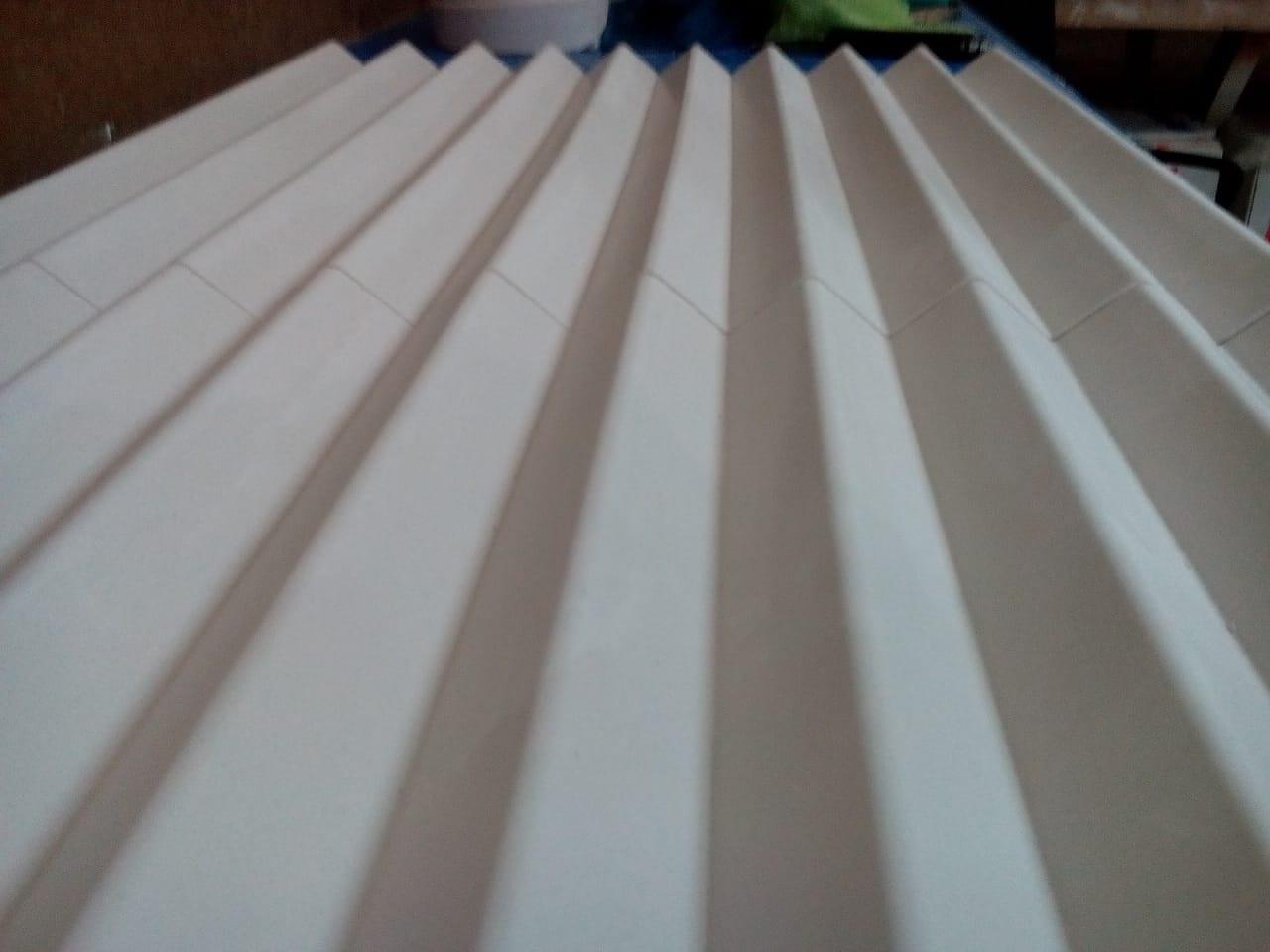 "3D панель ""Волна крупная"", 500х500 мм., материал - гипс."