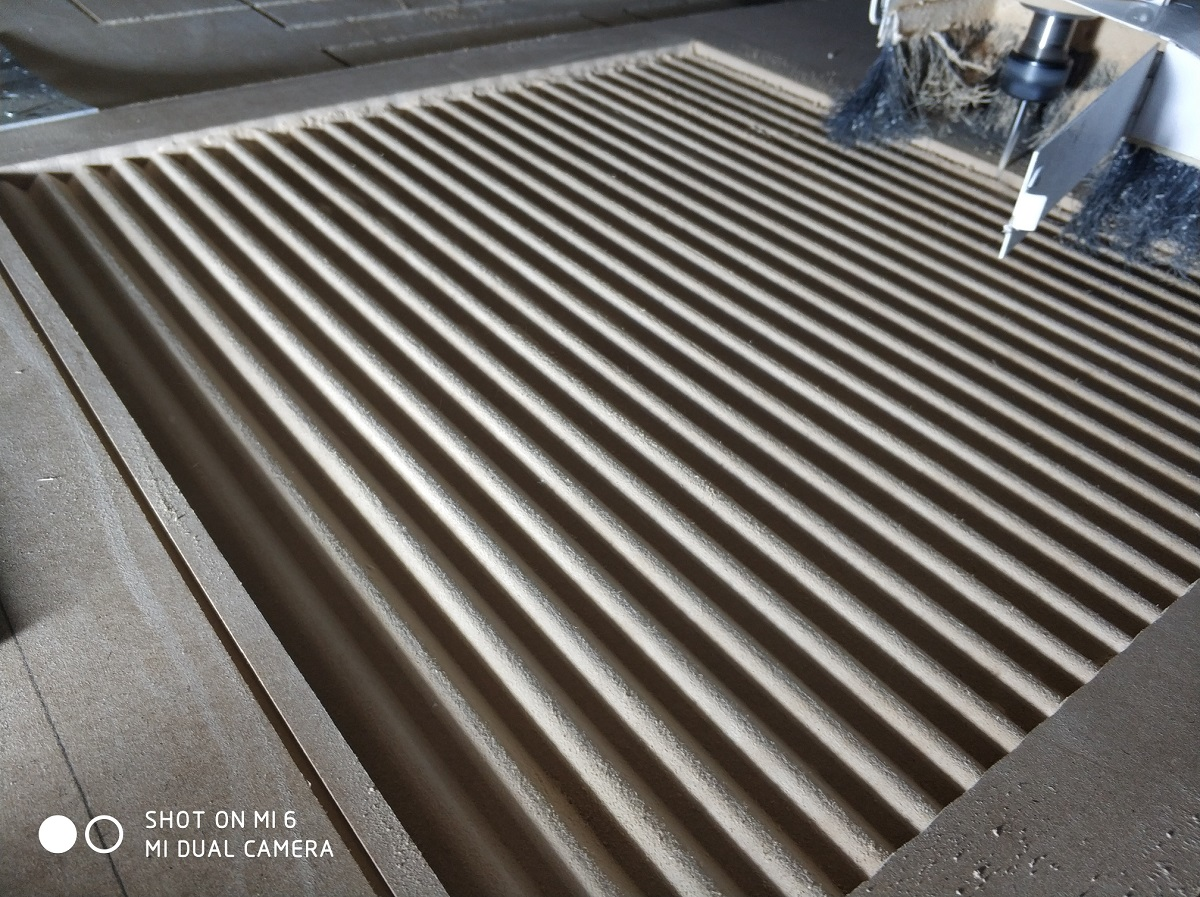 "3D панель ""Волна мелкая"", 500х500 мм., бук"