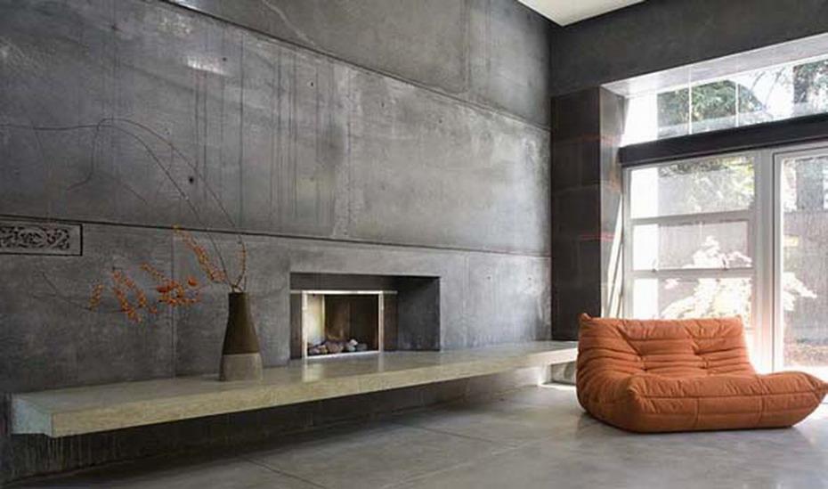 Тонкие бетонные панели для интерьера. Панели из бетона. Бетонные обои.