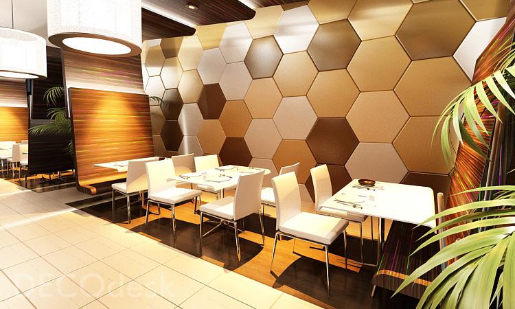 """Гипсовая 3D панель """"Hexagon"""""""