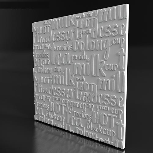 """Форма для 3D панелей """"LETTERS1"""""""