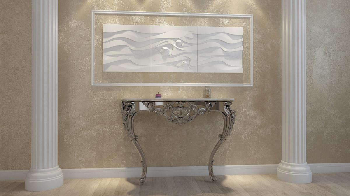 """3D панель из гипса """"Максвелл"""" для интерьерного оформления стен."""