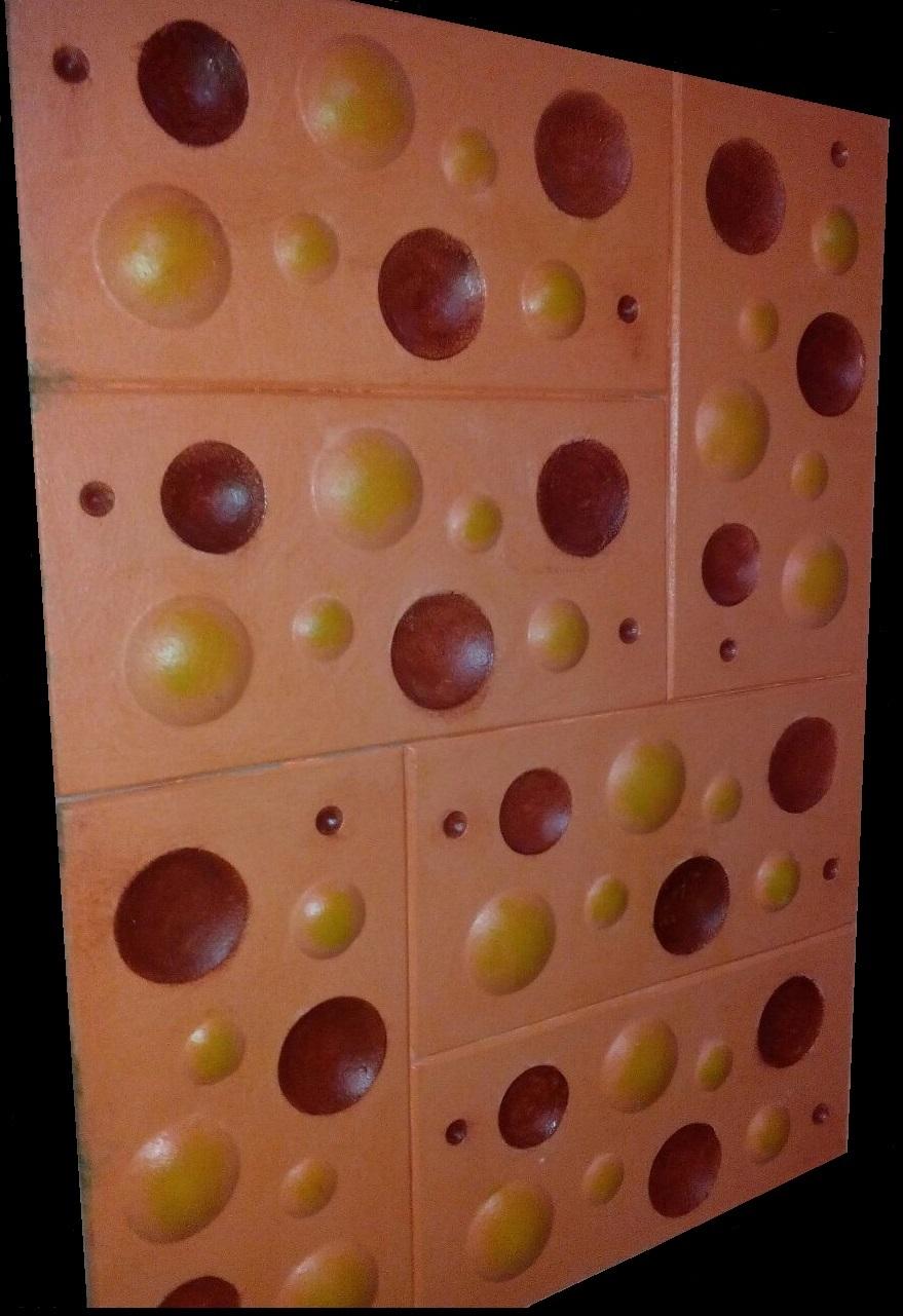 """3D гипсовая плитка """"СФЕРА"""" для отделки стен. Хорошо подходит для детской комнаты."""