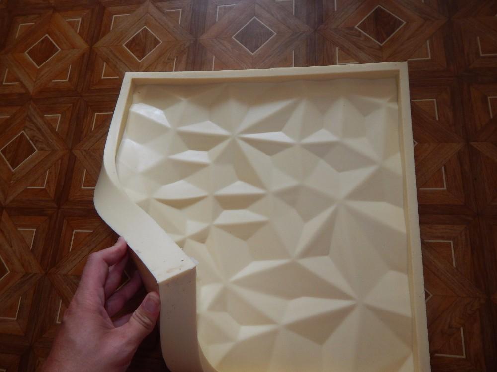 """Форма из полиуретана, силикона, резины для 3D панелей """"СКАЛЫ"""""""