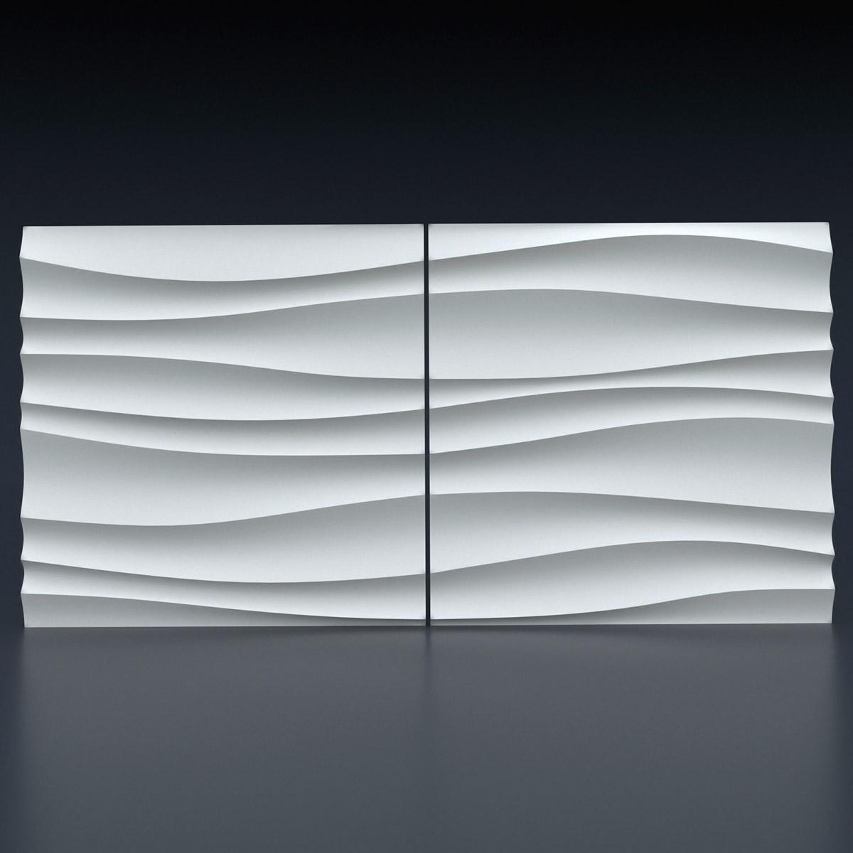 """Комплект из 2-х форм для изготовления 3D панелей """"Волна двойная острая"""". Композиция складывается в единый рисунок при использовании обеих форм."""
