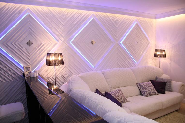 боковая подсветка 3d панелей