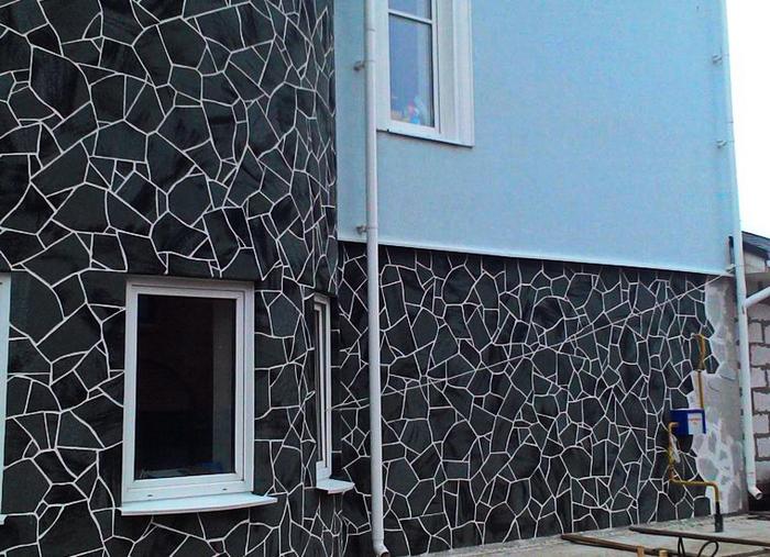 Облицовка фасадов гибкий камень