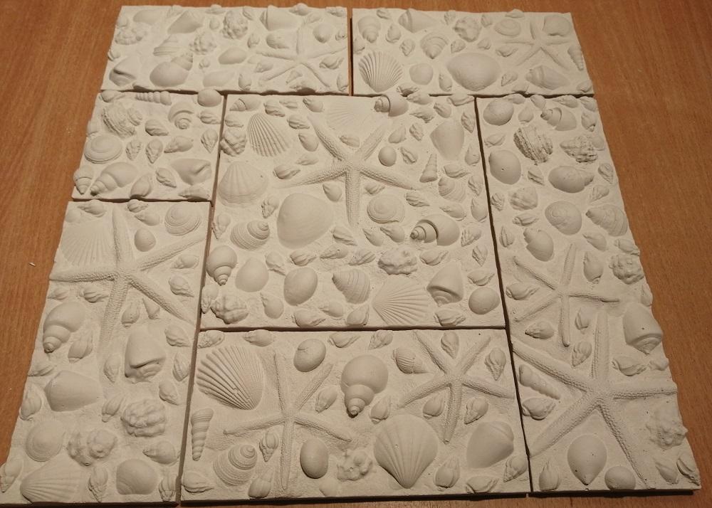 """Фотографии 3D плитки""""Морское дно"""" в интерьере:"""