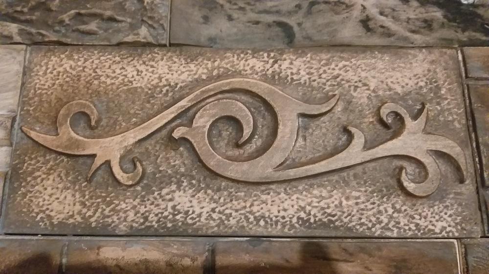 """Плитка """"Орнамент"""" изготовлена по современнымтехнологиям с применением экологически чистых материалов."""
