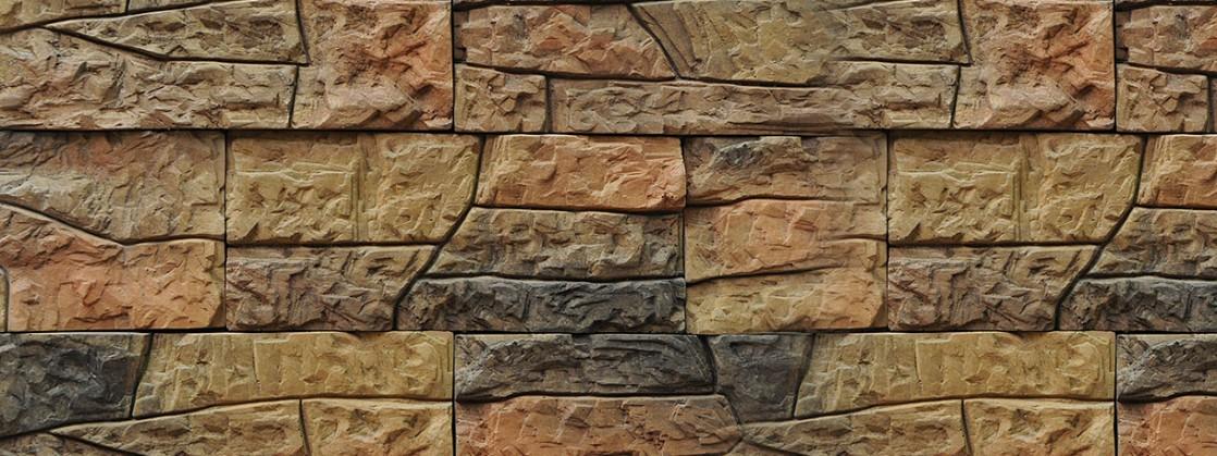 """Форма из полиуретана для изготовления искусственного дикого камня """"Разлом""""."""