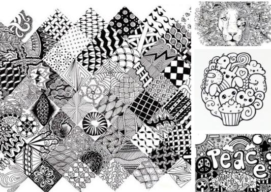 Дудлинг — это бессознательный рисунок, сделанный во время какого-то занятия. Это те самые каракули, цветочки, елочки, или даже цельные образы, которые мы рисуем, сидя на лекции, скучном совещании или во время долгого телефонного разговора.