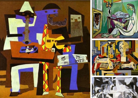 Кyбизм (фр. cubisme, от cube - куб) — направление в искусстве, представители которого изображают мир, используя геометрически правильные фигуры - кубы, шары, цилиндры, конусы и многогранники, пересечение прямых и ломанных линий.