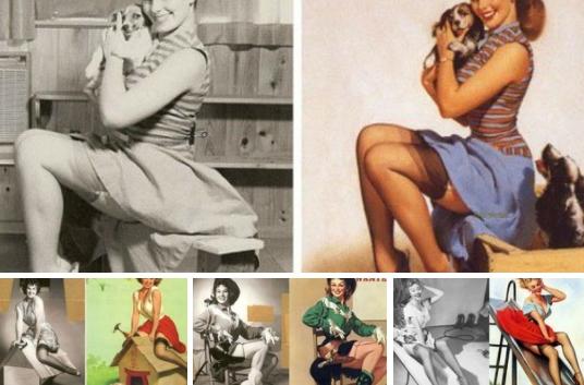 """Стиль """"Пин-ап"""" появился в 30-ые годы прошлого века в Америке. В основе пин-ап стиля (от англ. «to pin-up» - пристегнуть, приколоть) лежат два ключевых направления: рисунок и фотография.  На рисунках всегда изображались """"идеальные"""" девушки, который сразу оценили солдаты, матросы и водители-дальнобойщики, т.е. многие мужчины, которые большую часть времени проводившие вдали от внимания прекрасного пола. Они вырывали соответствующие страницы из журналов, прикалывали их булавками к стенам своих казарм и кубриков, кабин грузовиков. Так и появилось название для этого стиля."""