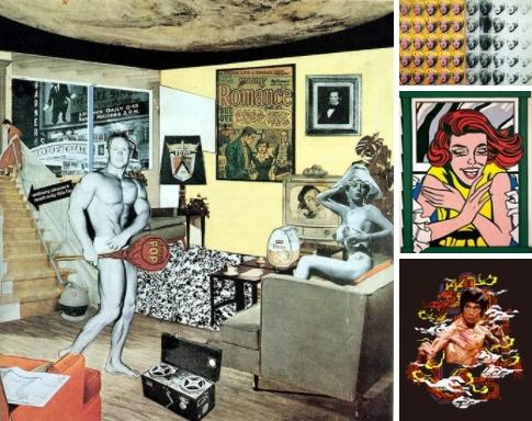 Поп-арт (сокращенное popular art — популярное искусство) — направление в искусстве, возникшее в противовес абстракционизму.